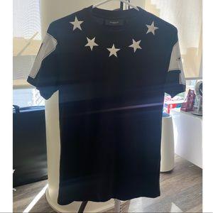 Givenchy men's black stars t-shirt